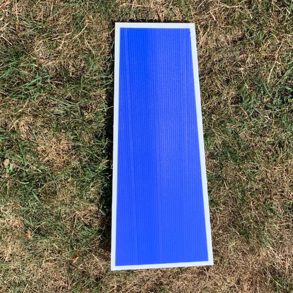 blue letter I yard greetings cards corrugated plastic coroplast happy birthday lawn