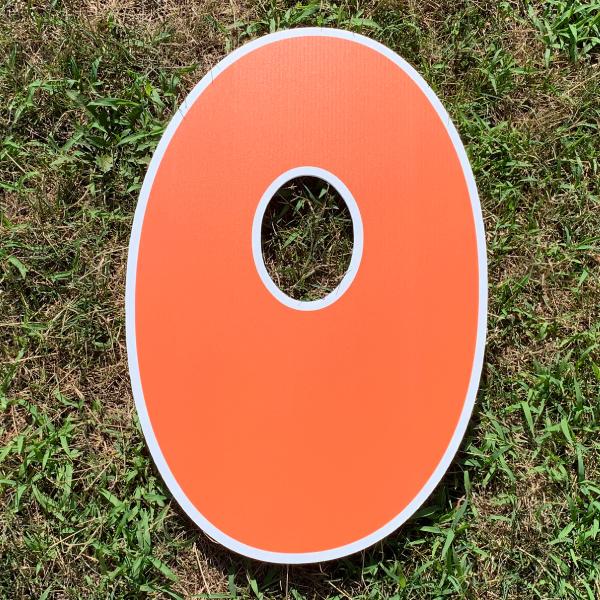orange letter O yard greetings cards corrugated plastic coroplast happy birthday lawn