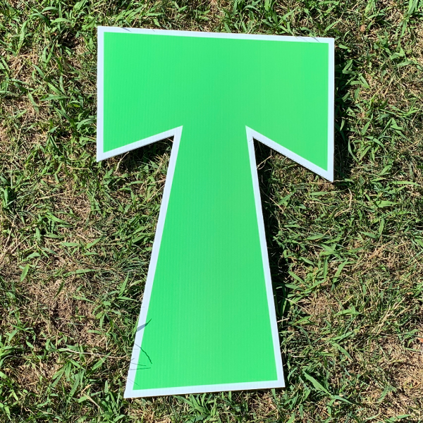 green letter t yard greetings cards corrugated plastic coroplast happy birthday lawn