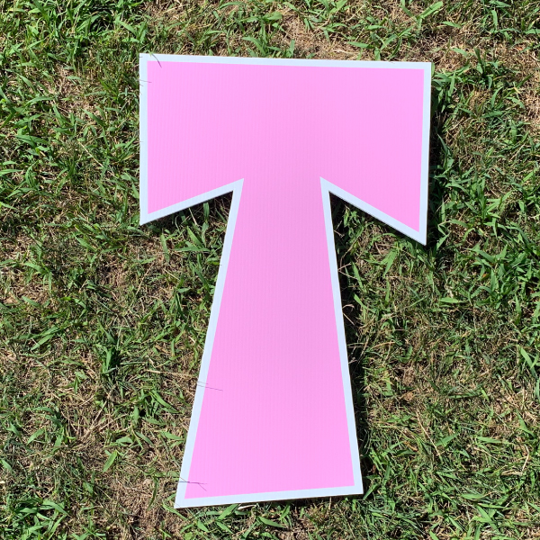 pink letter t yard greetings cards corrugated plastic coroplast happy birthday lawn