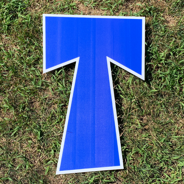 blue letter t yard greetings cards corrugated plastic coroplast happy birthday lawn