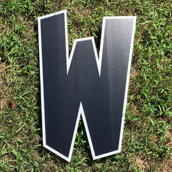 black letter w yard greetings cards corrugated plastic coroplast happy birthday lawn