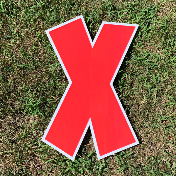 red letter x yard greetings cards corrugated plastic coroplast happy birthday lawn