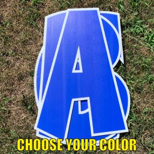 choose custom name letter pack corrugated plastic coroplast yard greetings happy birthday yard cards lawn signs