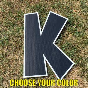 choose letter K yard greetings cards corrugated plastic coroplast happy birthday lawn