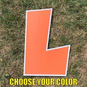 choose letter L yard greetings cards corrugated plastic coroplast happy birthday lawn