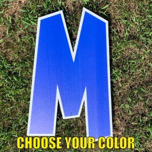 choose letter M yard greetings cards corrugated plastic coroplast happy birthday lawn