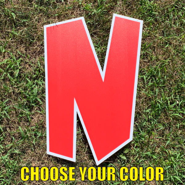 choose letter N yard greetings cards corrugated plastic coroplast happy birthday lawn