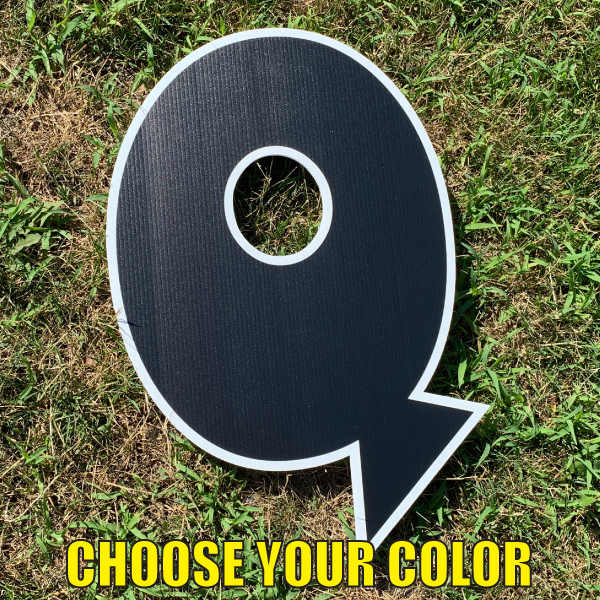 choose letter Q yard greetings cards corrugated plastic coroplast happy birthday lawn