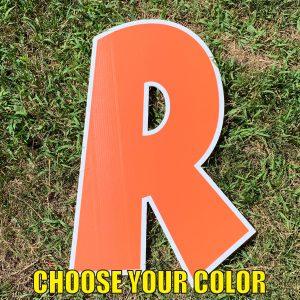 choose letter r yard greetings cards corrugated plastic coroplast happy birthday lawn