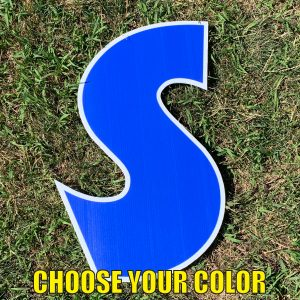 choose letter s yard greetings cards corrugated plastic coroplast happy birthday lawn