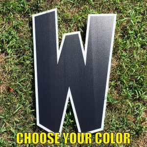 choose letter W yard greetings cards corrugated plastic coroplast happy birthday lawn