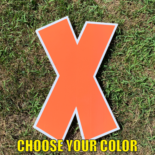 choose letter X yard greetings cards corrugated plastic coroplast happy birthday lawn