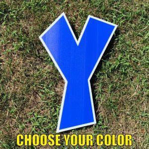 choose letter y yard greetings cards corrugated plastic coroplast happy birthday lawn