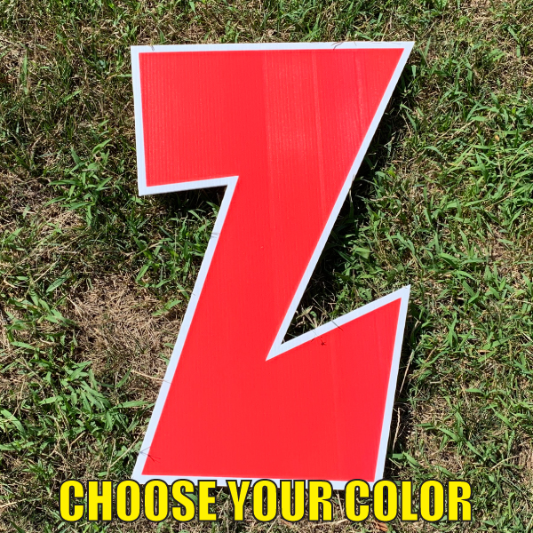 choose letter z yard greetings cards corrugated plastic coroplast happy birthday lawn