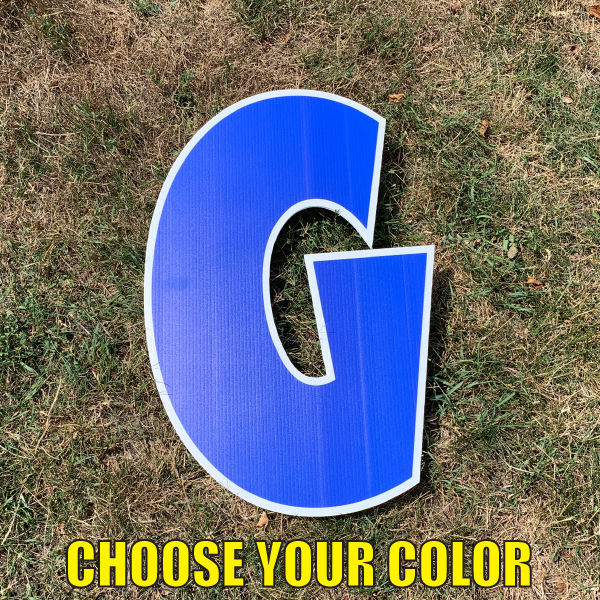 Choose letter g yard greetings cards corrugated plastic coroplast happy birthday lawn