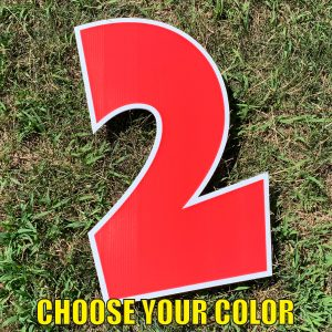 choose number 2 yard greetings cards corrugated plastic coroplast happy birthday lawn