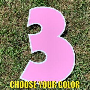 choose number 3 yard greetings cards corrugated plastic coroplast happy birthday lawn