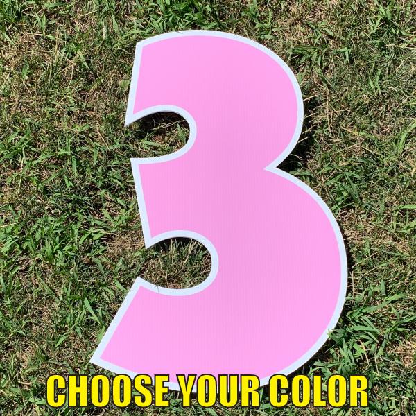 choose number 3 yard greetings cards corrugated plastic coroplast happy birthday lawn