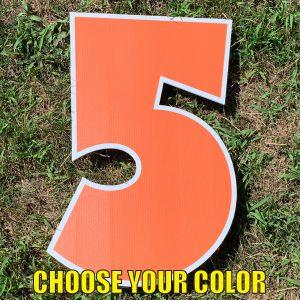 choose number 5 yard greetings cards corrugated plastic coroplast happy birthday lawn