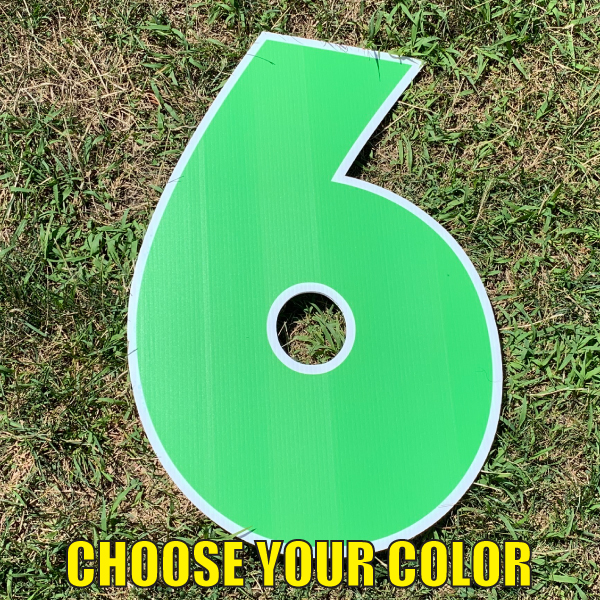 choose number 6 yard greetings cards corrugated plastic coroplast happy birthday lawn