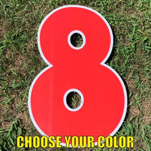 choose number 8 yard greetings cards corrugated plastic coroplast happy birthday lawn