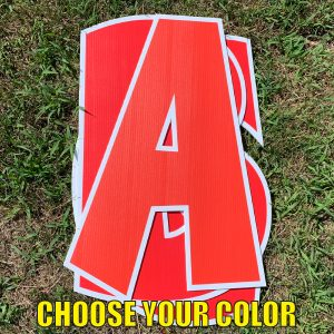 choose red custom name letter pack corrugated plastic coroplast yard greetings happy birthday yard cards lawn signs