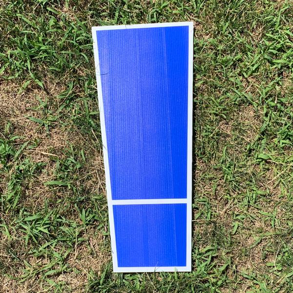 blue symbol exclamation ! yard greetings cards corrugated plastic coroplast happy birthday lawn