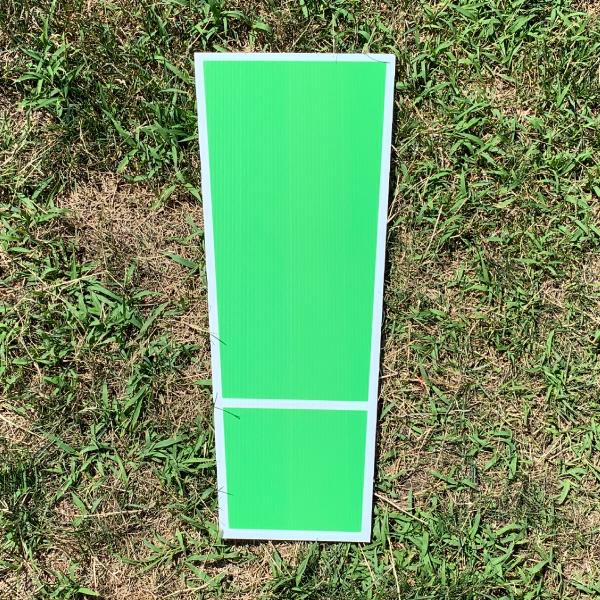 green symbol exclamation ! yard greetings cards corrugated plastic coroplast happy birthday lawn