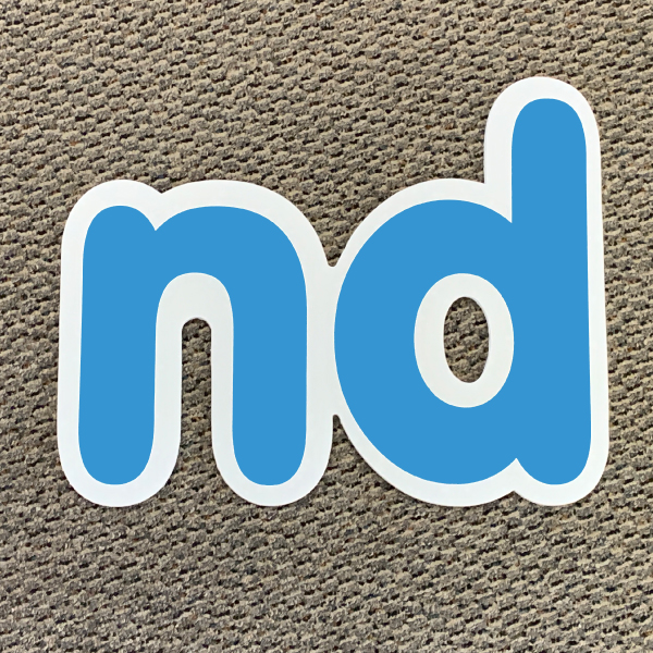 nd blue ordinal indicator letters yard greetings lawn signs coroplast corrugated plastic