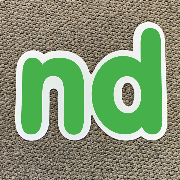 nd green ordinal indicator letters yard greetings lawn signs coroplast corrugated plastic