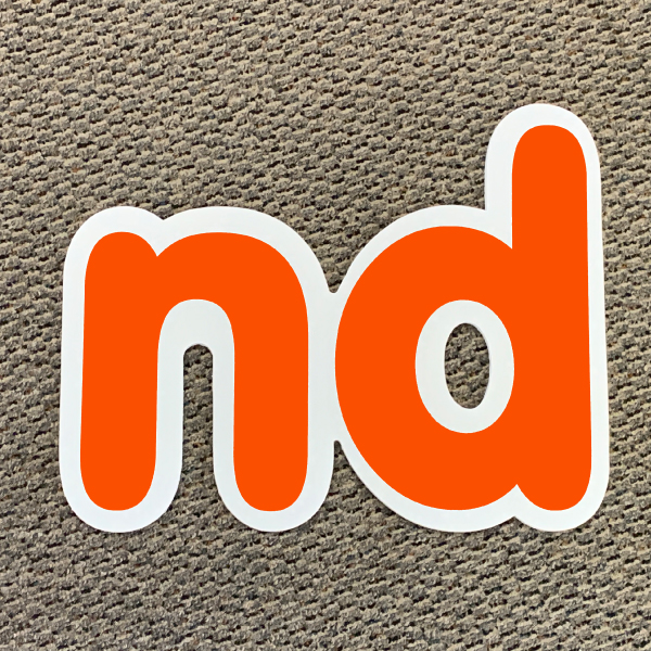 nd orange ordinal indicator letters yard greetings lawn signs coroplast corrugated plastic