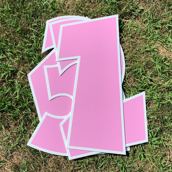 pink number pack coroplast numbers corrugated plastic yard greetings cards lawn signs