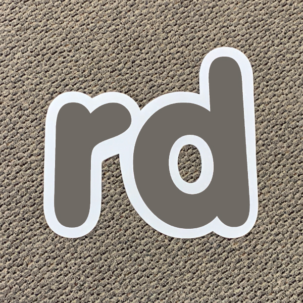 rd silver ordinal indicator letters yard greetings lawn signs coroplast corrugated plastic