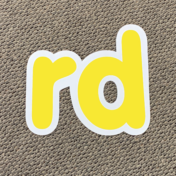 rd yellow ordinal indicator letters yard greetings lawn signs coroplast corrugated plastic