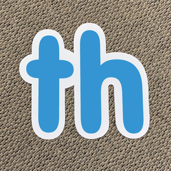 th blue ordinal indicator letters yard greetings lawn signs coroplast corrugated plastic