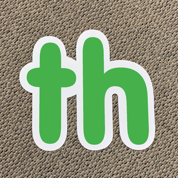 th green ordinal indicator letters yard greetings lawn signs coroplast corrugated plastic