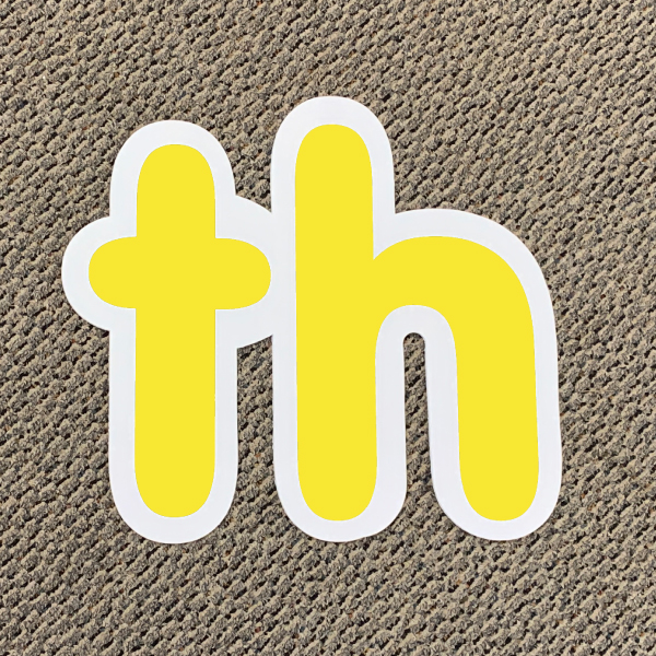 th yellow ordinal indicator letters yard greetings lawn signs coroplast corrugated plastic