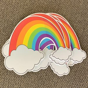 rainbow dozen yard greetings yard cards happy birthday lawn signs