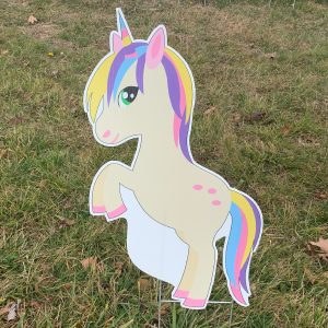 unicorn 2 yard greetings yard cards lawn signs