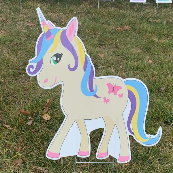 unicorn 4 yard greetings yard cards lawn signs