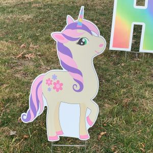 unicorn 6 yard greetings yard cards lawn signs
