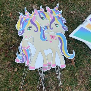 dozen unicorns yard greetings yard cards lawn signs