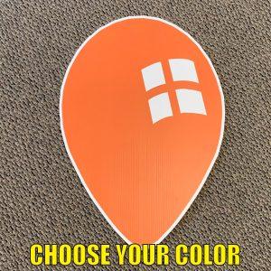 choose orange balloon yard greeting happy birthday lawn sign yard cards coroplast corrugated plastic