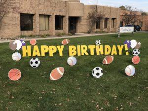 happy birthday yard greetings yard cards lawn signs sports